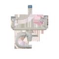 Сифон Орио 1 1/2*40 двойной двухуровневый с отводом и переливом