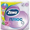 Туалетная бумага ZEWA Плюс 2-ух слойная с ароматом сирени 4шт