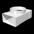 Тройник-соединитель прям.воздух. 60х120 с фланцевым воздухорасп.D100