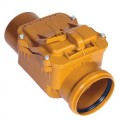 Клапан обратный канализационный ПВХ 110