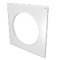Накладка торцевая 150х150 для круглого воздуховода D 100