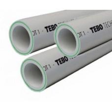 Труба стекловолокно 25 SDR6 Tebo цв.серый