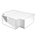Тройник для прямоугольных воздуховодов 60 х120