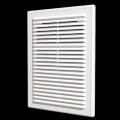 Решетка вентиляционная разъемная с сеткой 210 x 210