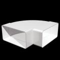 Колено плоское горизонтальное 60х120