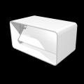 Соединитель прямоугольных воздуховодов с обратным клапаном 60 х 120