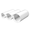 Воздуховод пластмассовый круглый D 100 мм L-0,5 м