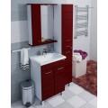 Зеркало-шкаф Омега 60 левое,подсветка,бордовый