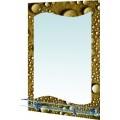 Зеркало 6-17 (500*700) с фотопечатью,полочка с ограничителем