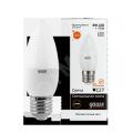Лампа светодиодная 6Вт Е27 теплый матовая свеча Gauss