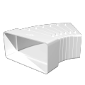 Колено плоское разноугловое 60х120