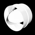Соединитель круглых воздуховодов с обратным клапаном D 100