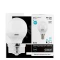 Лампа светодиодная 8Вт Е14 теплый шар Gauss